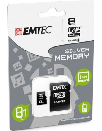ΚΑΡΤA ΜΝΗΜΗΣ EMTEC MICRO SDHC 8GB CLASS 10 WITH ADAPTOR