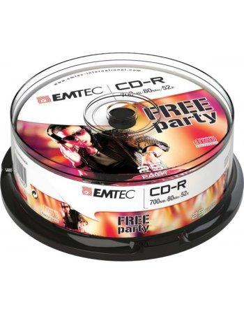 ΔΙΣΚΟΙ EMTEC CD-R 80min/700MB 52X CB 25τεμ