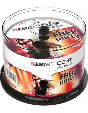 ΔΙΣΚΟΙ EMTEC CD-R 80min/700MB 52X CB 50τεμ