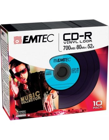 ΔΙΣΚΟΙ EMTEC CD-R 80min/700MB 52X VINΥL SLIM 10τεμ