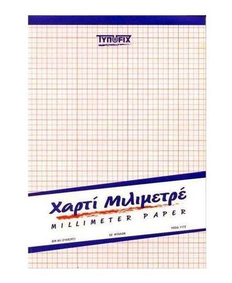 ΜΠΛΟΚ ΜΙΛΙΜΕΤΡΕ TYPOFIX ΔΙΑΦΑΝΕΣ Α3