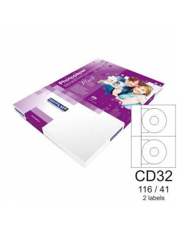 ΕΤΙΚΕΤΕΣ RAYFILM Α4 INKJET ΔΙΑΦΑΝΕΙΣ CD 116/41mm 10φ.