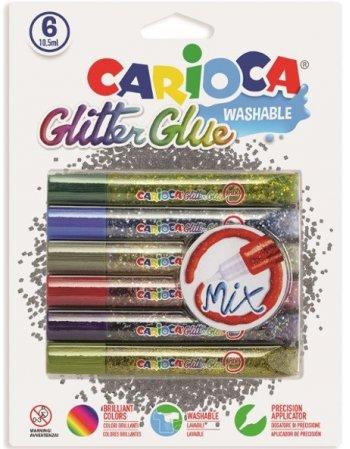 ΧΡΥΣΟΚΟΛΛΑ CARIOCA MIX GLITΤΕR 10,5ml 6TEM.