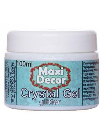 CRYSTAL GEL ΜΕ GLITTER MAXI DECOR 100ml