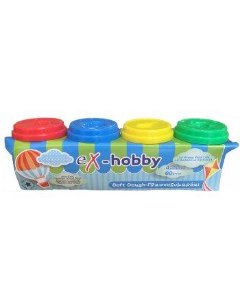 ΠΛΑΣΤΟΖΥΜΑΡΑΚΙΑ eX-HOBBY 4ΧΡ x 60gr