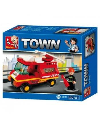 SLUBAN TOWN FIRE TRUCK B0173