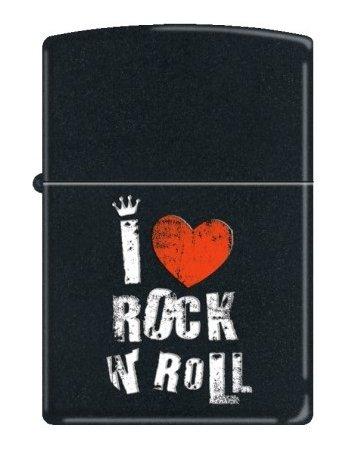 ZIPPO 218 I LOVE ROCK N ROLL MATT