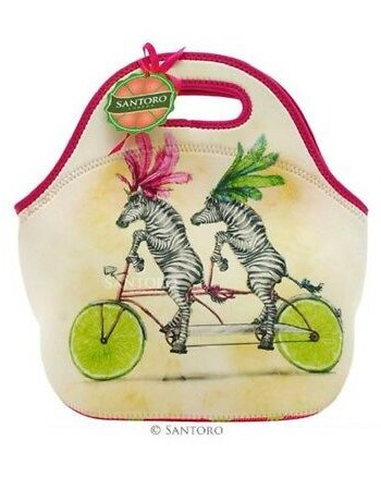 ΤΣΑΝΤΑΚΙ SANTORO HANDBAG PURSE FRUIT SCOOTY ZEBRA