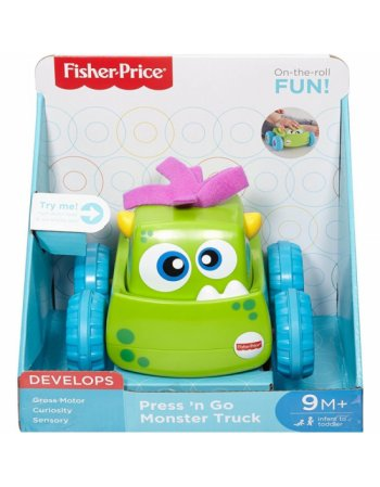 FISHER PRICE PRESS 'N GO MONSTER TRUCK (DRG15)