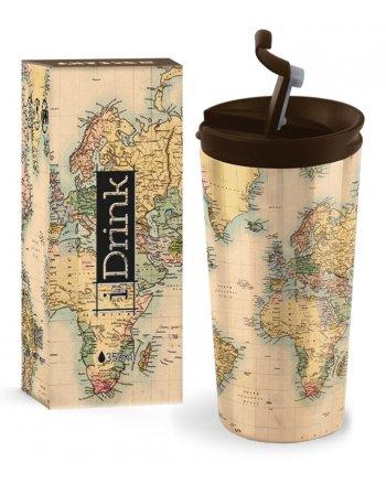 ΚΟΥΠΑ i DRINK ID0204 TRAVEL MUG 350ml MAP