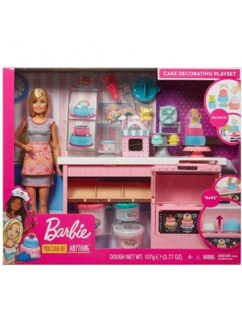 MATTEL BARBIE YOU CAN BE ANYTHING - DOLL AND CAKE...