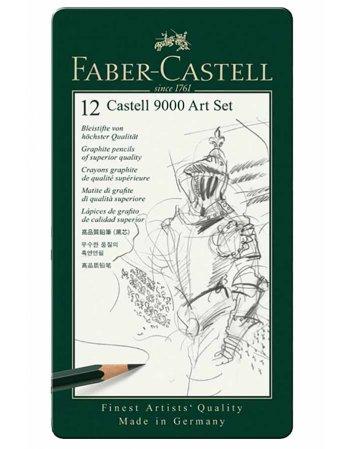 ΜΟΛΥΒΙΑ FABER CASTELL 9000 ART ΚΑΣΕΤΙΝΑ 12TEMΑΧΙΑ