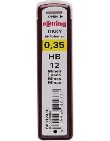 ΜΥΤΕΣ ΓΙΑ ΜΗΧΑΝΙΚΟ ΜΟΛΥΒΙ ROTRING 0.35mm HB 12ΤΕΜ.